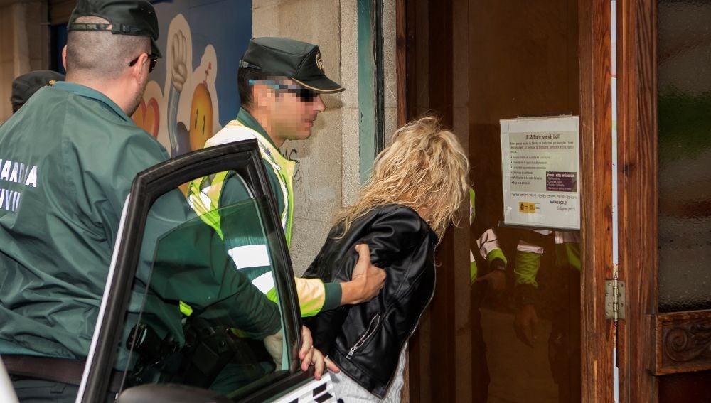 La conductora detenida por la policía