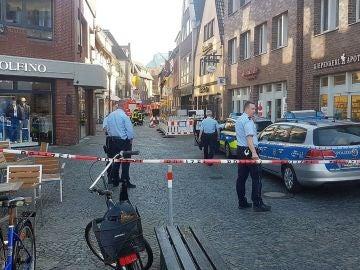 La policía de Münster, en el noroeste de Alemania