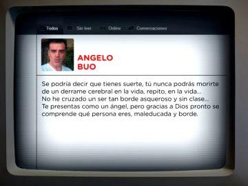 """""""Nunca podrás morirte de un derrame cerebral"""": los insultos y amenazas, la fase 3 de la estafa de Angelo Buo contra su víctima"""