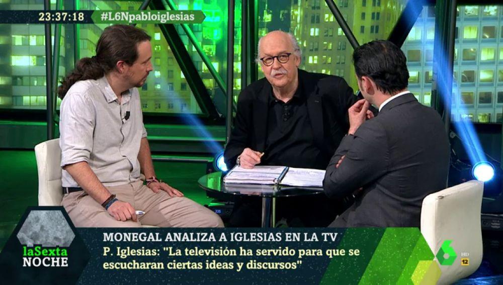 Del 'repita conmigo' a Aguirre' al 'Pantunflo' a Inda: Monegal repasa los 'hits' de Pablo Iglesias en laSexta Noche