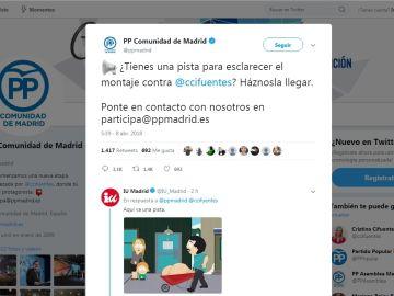 Cuenta de Twitter del PP de la Comunidad de Madrid