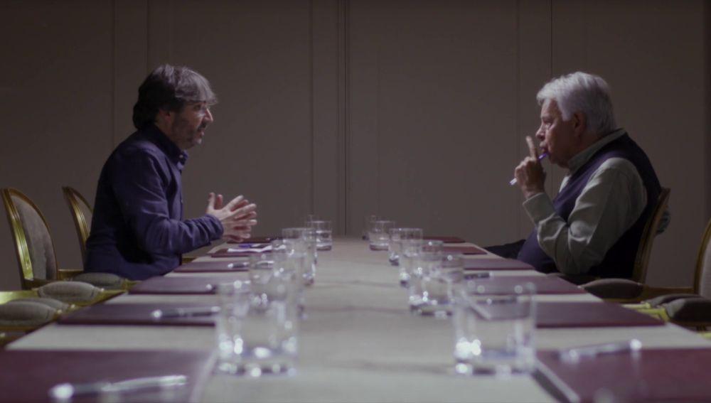 Jordi Évole y Felipe González en Salvados