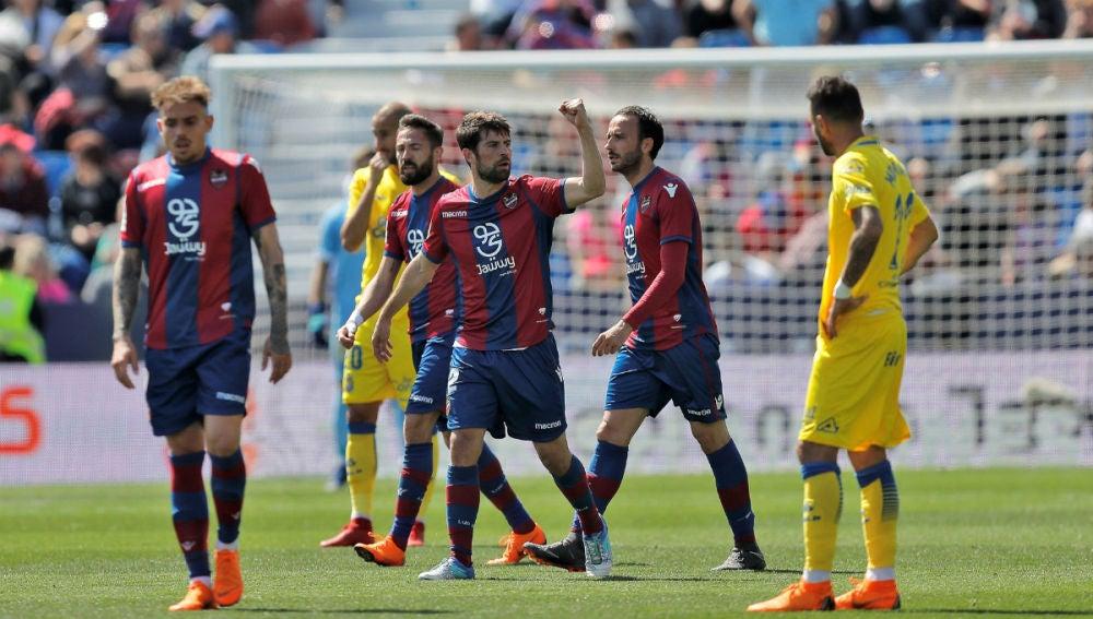 El Levante celebra un gol ante Las Palmas