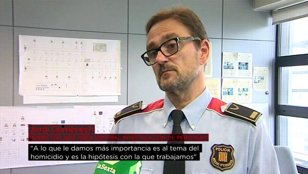 """El inspector jefe Jordi Domènech, sobre Caroline del Valle: """"El homicidio es la hipótesis con la que trabajamos"""""""