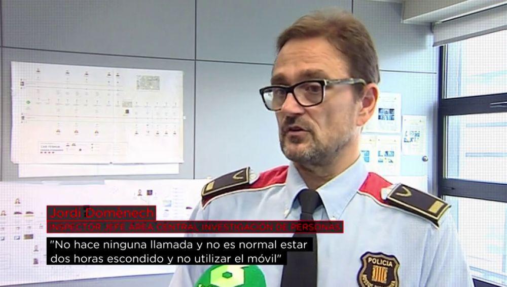 El inspector jefe Domènech explica los indicios de los Mossos sobre el principal sospechoso de la desaparición de Caroline del Valle