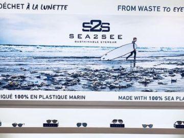 Gafas con red de pesca reciclada