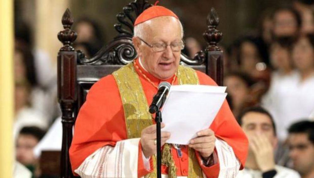 El arzobispo de Santiago, Ricardo Ezzati