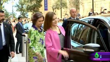 La reina Sofía y la reina Letizia