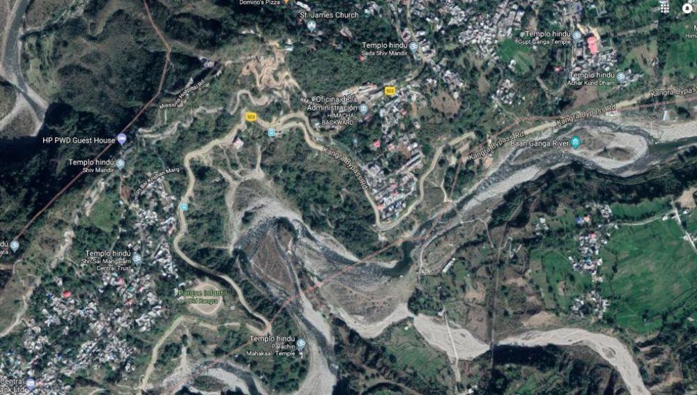 Mapa de la región donde ha sucedido el accidente