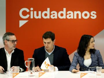 Albert Rivera, Inés Arrimadas y José Manuel Villegas