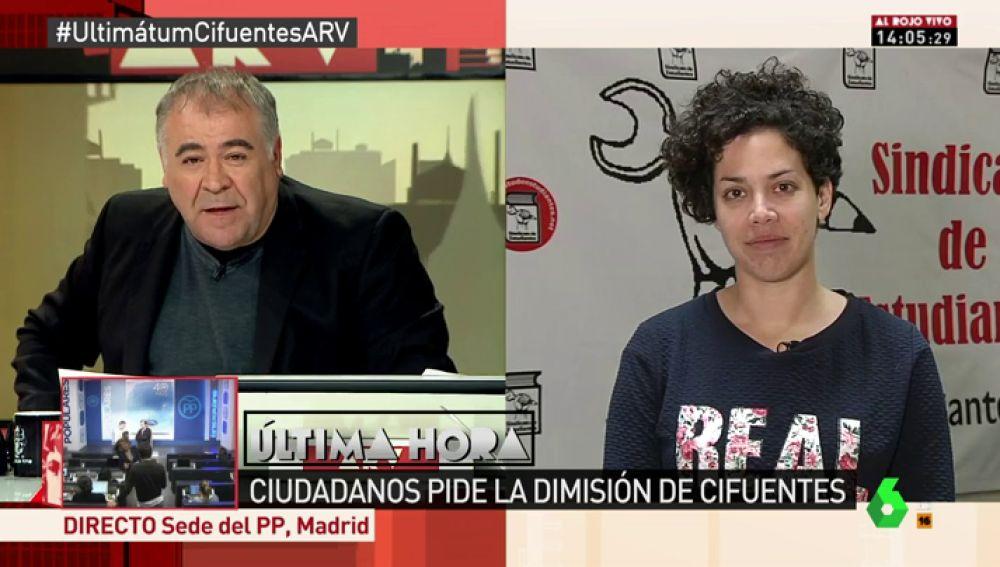 Ana García, secretaria general del Sindicato de Estudiantes