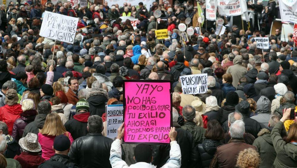 Manifestación por unas pensiones dignas (Archivo)
