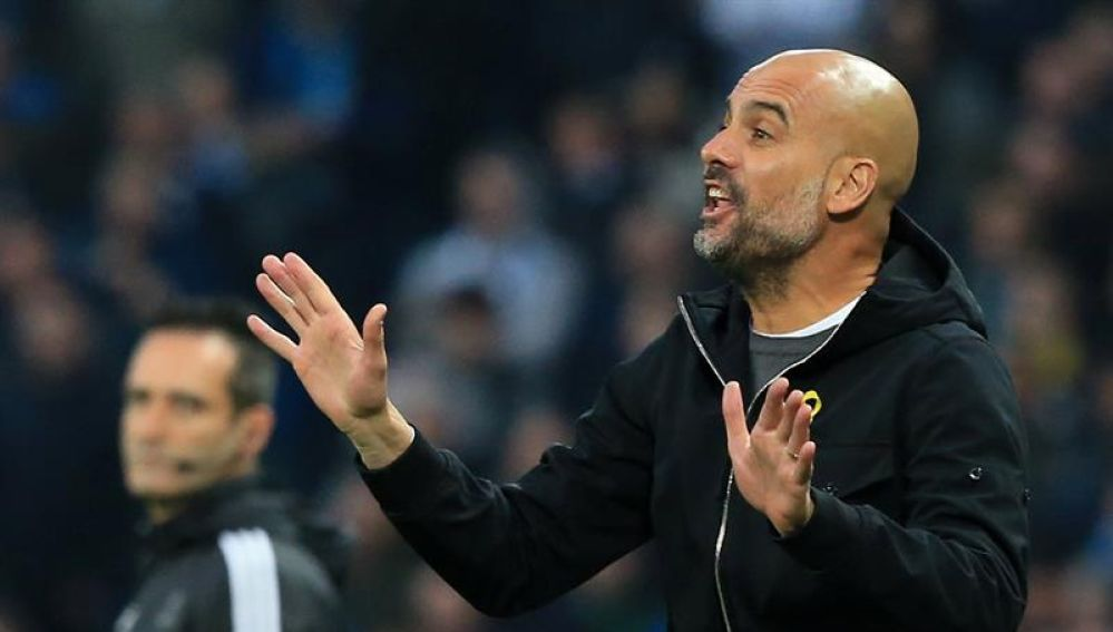 Pep Guardiola, expulsado del City-Liverpool.