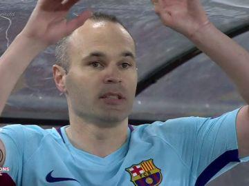La desolación de Iniesta, Piqué o Busquets tras la eliminación del Barcelona en el Olímpico