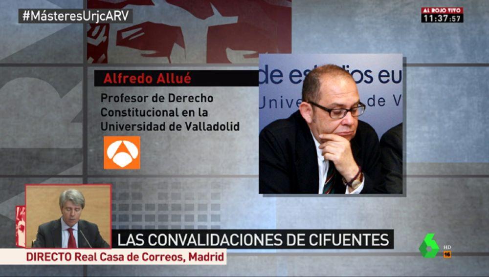 Alfredo Allué, proesor de Derecho Constitucional en Valladolid
