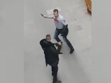 Violenta pelea en Barcelona