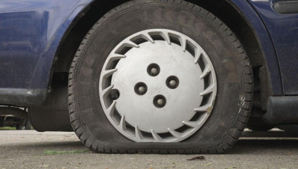 Reventón de neumático