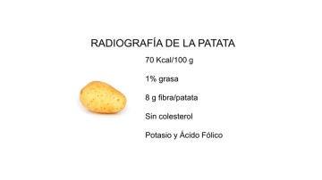La patata cocida no engorda