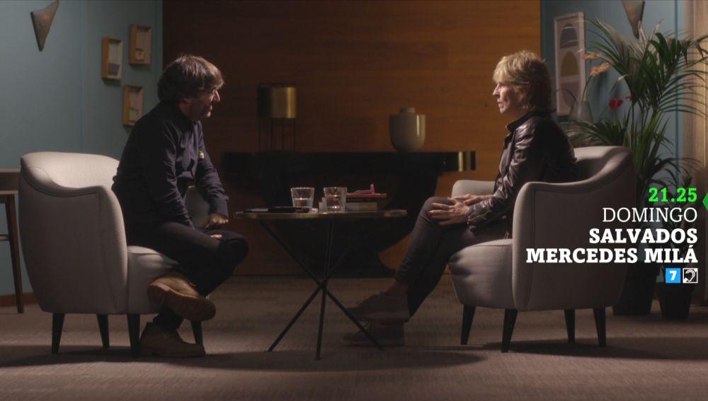 Jordi Évole y Mercedes Milá, en Salvados