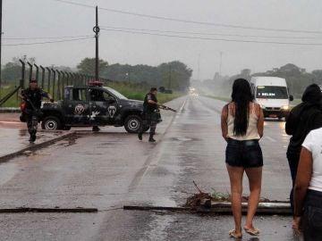 Exteriores de la prisión brasileña en la que 20 personas han muerto