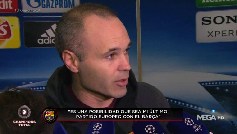 """Iniesta: """"Es una posibilidad que haya sido mi último partido en Champions, por eso duele más"""""""