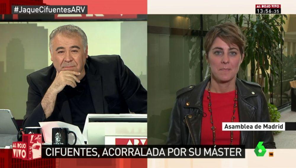 La portavoz de Podemos en la Asamblea de Madrid Lorena Ruiz-Huerta