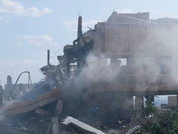Imagen de un edificio tras los bombardeos en Siria