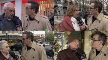Santi Villas habla en un barrio rico y uno obrero con los españoles