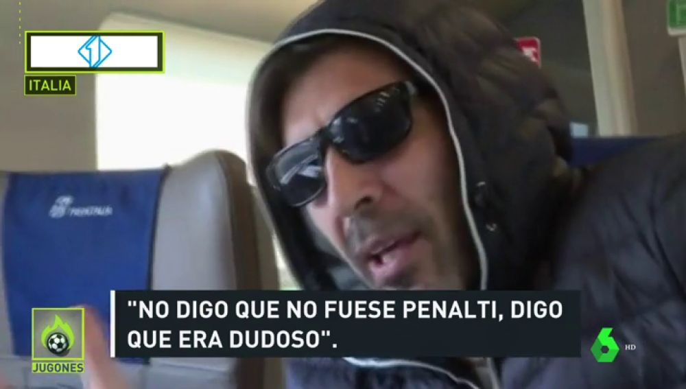 "Buffon: ""No digo que no fuera penalti, digo que era dudoso"""