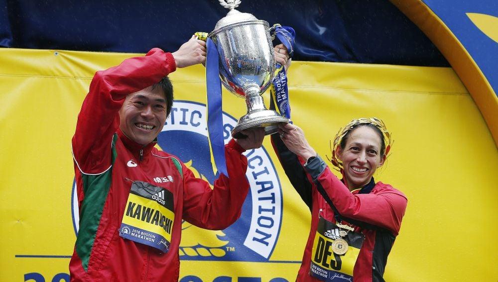 Kawauchi y Linden se proclaman campeones del Maratón de Boston