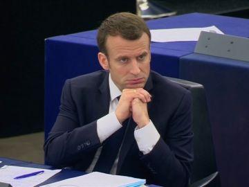 El presidente francés, Emmanuel Macron