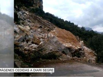Desprendimiento de tierra en Castell de Mur, Lleida