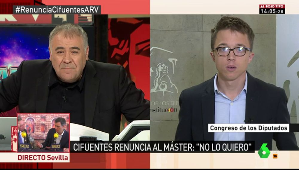 Íñigo Errejón, secretario de Análisis Estratégico de Podemos