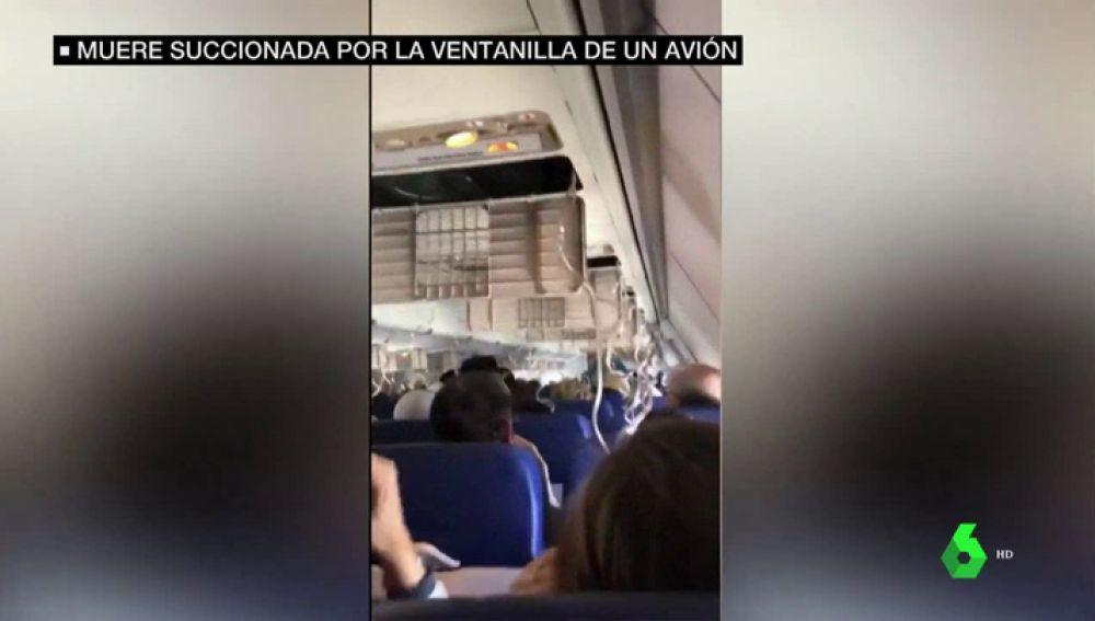 Momentos previos al aterrizaje de emergencia de un avión en Filadelfia