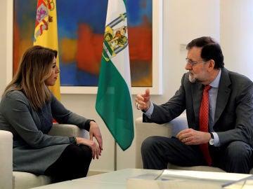 Imagen de Susana Díaz y Mariano Rajoy en Moncloa