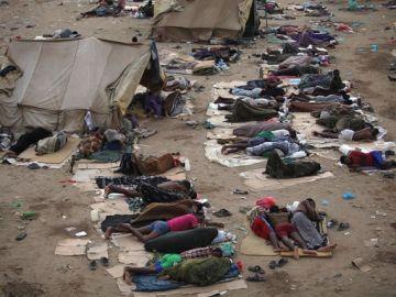 Imágen de migrantes en Yemen