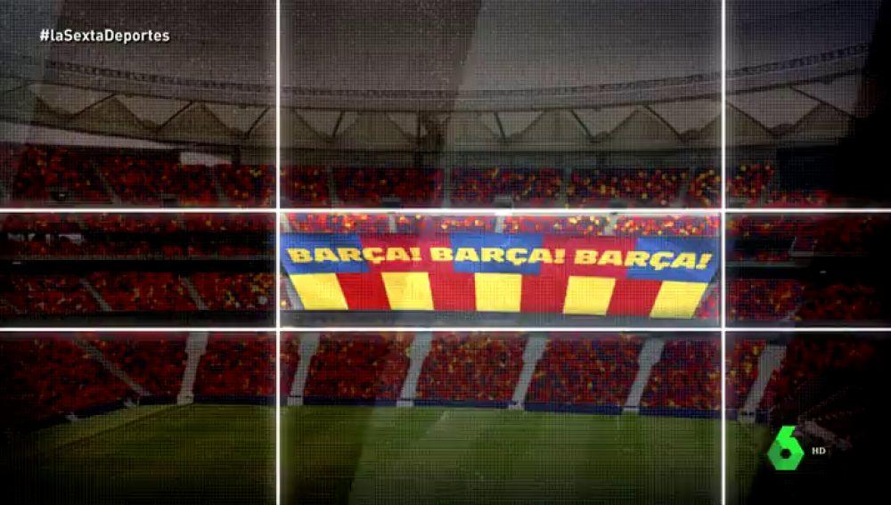 '¡Barça! ¡Barça! ¡Barça!': el tifo del Barcelona para la final de la Copa del Rey