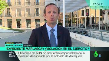 Manuel Rincón, abogado de la soldado víctima de una agresión sexual