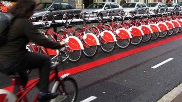 Sistema de bicicletas compartidas, Bicing, en Barcelona