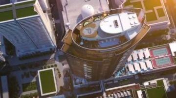 onstruyen en Miami el primer parking para coches voladores con una plataforma de aterrizaje y despegue