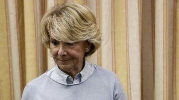 Esperanza Aguirre en el Congreso de los Diputados