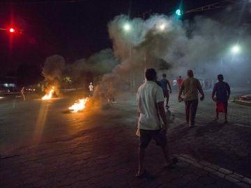 Imagen de las protestas en Nicaragua