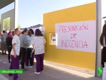 Protestas de los profesores del colegio de Getafe
