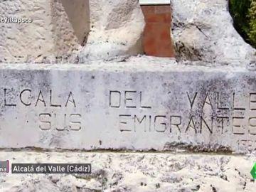 Una estatua de Alcalá del Valle