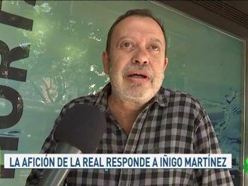 """La afición de la Real Sociedad, indignada con las declaraciones de Íñigo Martínez: """"Será sinvergüenza"""""""