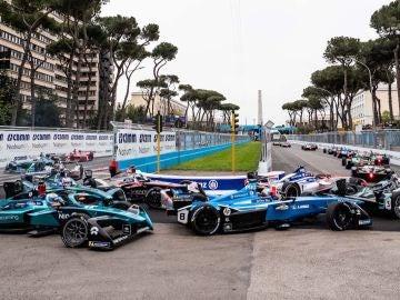 Salida en la jornada de Fórmula E en Roma