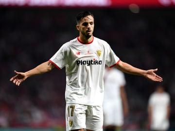 Sarabia se lamenta en el segundo tanto del Barcelona