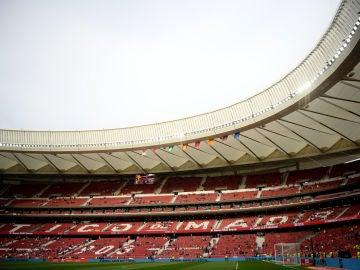 El Wanda Metropolitano, antes de la final de la Copa del Rey