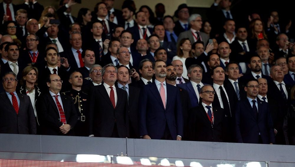 El rey Felipe VI en la final de Copa