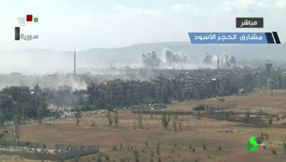 El último bastión rebelde bombardeado por el ejército sirio